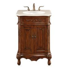 See Details - 24 In. Single Bathroom Vanity Set In Brown