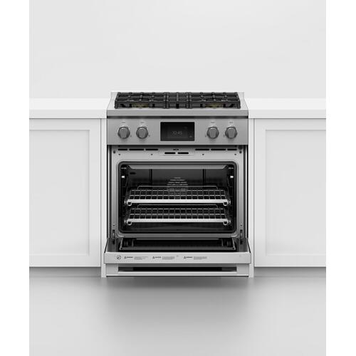 """Fisher & Paykel - Induction Range, 30"""", 4 Zones with SmartZone, Self-cleaning"""