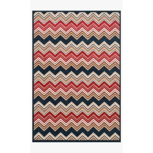 OS-06 Red / Multi Rug