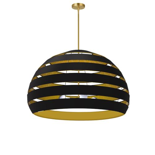 Product Image - 4lt Chandelier Agb, Bk/gld Shade