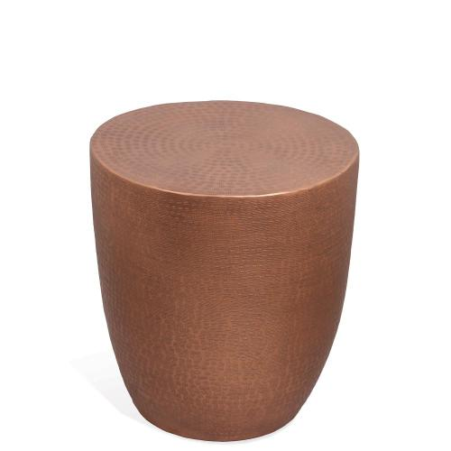 Drum Side Table - Rose Finish