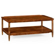 Walnut country style coffee table