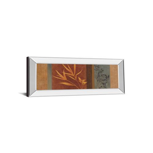 """Classy Art - """"Leaf Silhouette I"""" By Jordan Grey Mirror Framed Print Wall Art"""