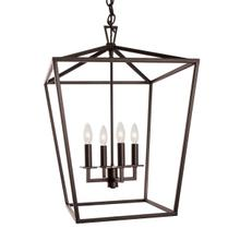Cage Medium Chandelier - Bronze