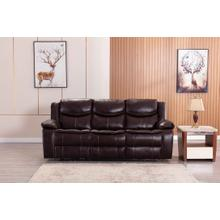 See Details - 8005 BROWN Air Leather Power Recliner w/ USB Sofa