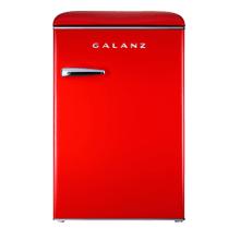 Galanz 3.1 Cu Ft Retro Upright Freezer in Hot Rod Red