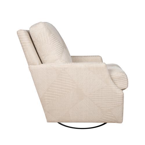 Capris Furniture - Swivel Glider, Fully Upholstered.