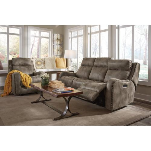 Flexsteel Home - Springfield Fabric Power Reclining Sofa with Power Headrests