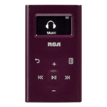 Ultra compact 4GB digital audio player (purple)
