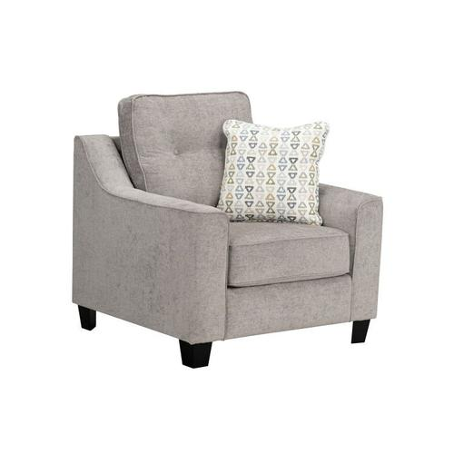 Marco Upholstered Chair, Cement