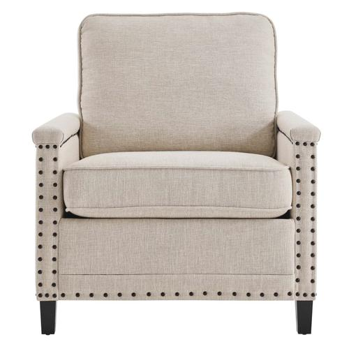 Modway - Ashton Upholstered Fabric Armchair in Beige