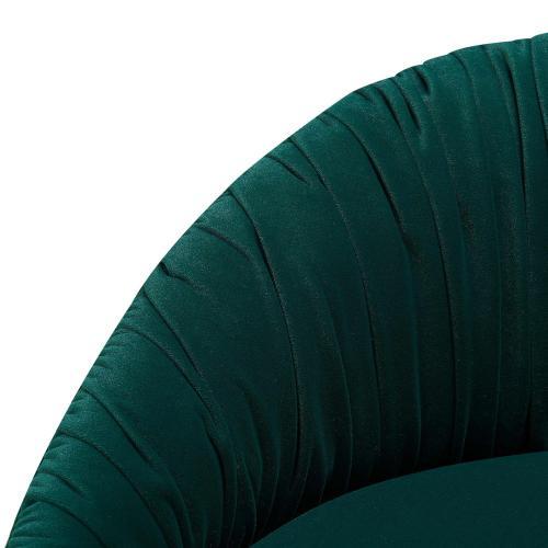 Yule KD Velvet Fabric Counter Stool, Beta Green