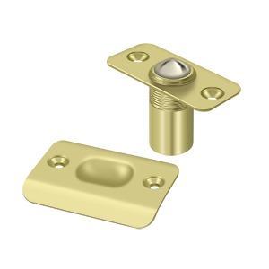 Deltana - Ball Catch, Round Corners - Polished Brass