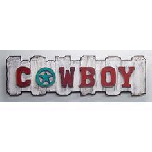 Horizontal White Back Cowboy