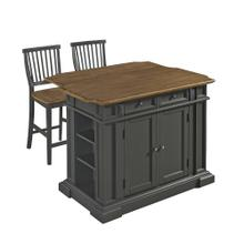 Montauk 3 Piece Kitchen Island Set