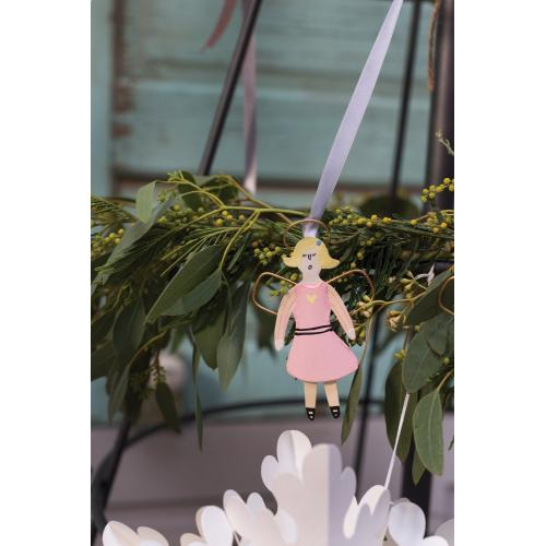 "4""H Pink Little Angel Ornament (Girl Option)"
