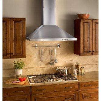 30-inch Wall Mount Chimney Hood, 675 Max Blower CFM, Brushed Stainless Steel (WTT32 Series)