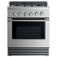 "Gas Range, 30"", 4 Burners, LPG"
