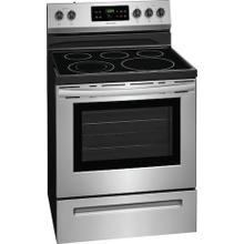 Frigidaire 30'' Electric Range.  This is a Stock Photo of a New Out of Box Appliance, actual unit (s) appearance may contain cosmetic blemishes. Please call store if you would like actual pictures). This unit carries our 6 month warranty, MANUFACTURER WARRANTY and REBATE NOT VALID with this item. ISI 43968 BB