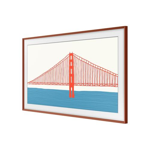 "Samsung - (2021) 55"" The Frame Customizable Bezel - Beveled Brick Red"