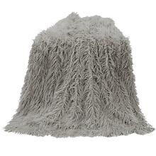 Mongolian Faux Fur Throw Blanket (6 Colors) - Gray