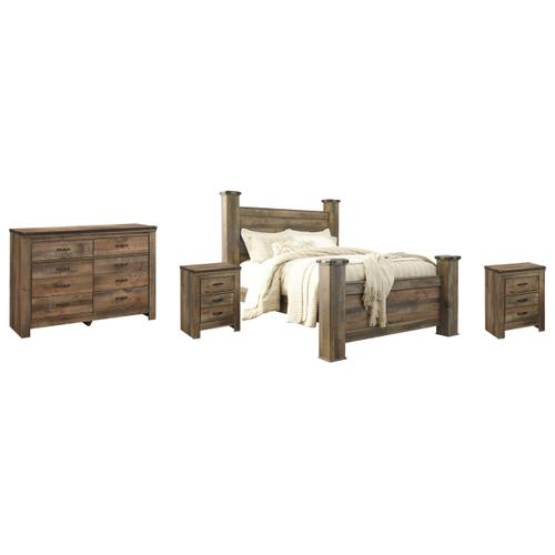 Ashley - Queen Poster Bed With Dresser and 2 Nightstands