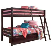 Halanton Twin Over Twin Bunk Bed With 1 Large Storage Drawer Product Image