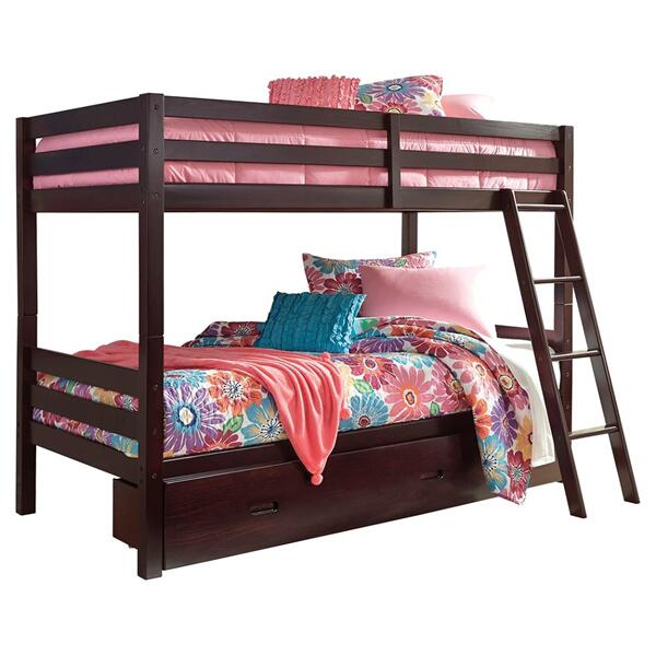 Halanton Twin Over Twin Bunk Bed With 1 Large Storage Drawer