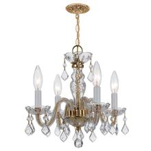 See Details - Traditional Crystal 4 Light Clear Spectra Crystal Brass Mini Chandelier