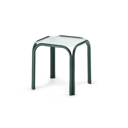 """Telescope Casual Furniture - Obscure Acrylic Top Table 17"""" Square End Table"""