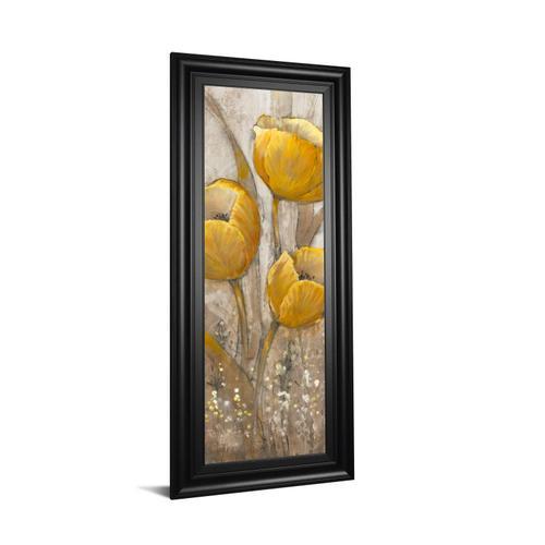 """Ochre Tulips Il"" By Tim Otoole Framed Print Wall Art"