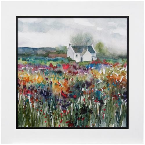 Style Craft - WILDFLOWER COTTANG  39 X 39  Made in USA  Textured Framed Print