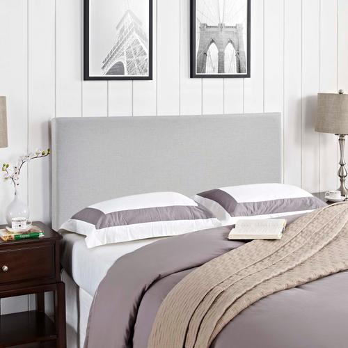 Modway - Region King Upholstered Fabric Headboard in Sky Gray