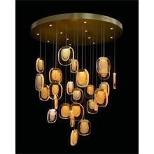 Bansho: Thirty-Nine Light Layered Glass Drop Pendant Chandelier
