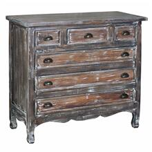 CC-CAB259LD-WB  Chest  Solid Wood  Distressed Brushed White