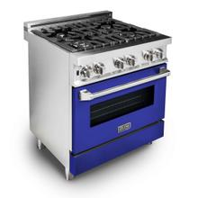 ZLINE 30 in. Professional Dual Fuel Range with Blue Matte Door (RA-BM-30)