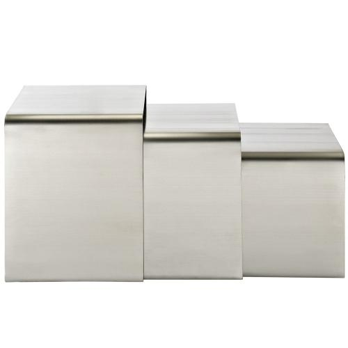 Modway - Rush Nesting Table in Silver