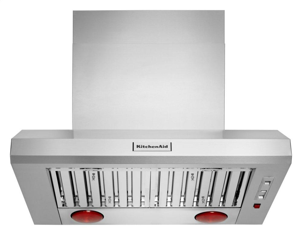 "Kitchenaid36"" 585-1170 Cfm Motor Class Commercial-Style Wall-Mount Canopy Range Hood - Stainless Steel"
