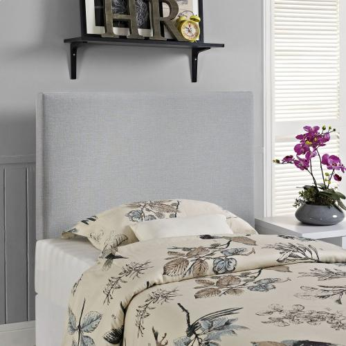 Region Twin Upholstered Fabric Headboard in Sky Gray