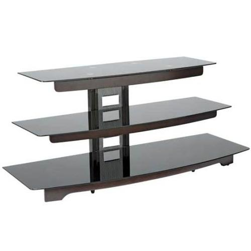 """Product Image - Chocolate Audio Video Stand Waterfall design - fits AV components and TVs up to 56"""""""