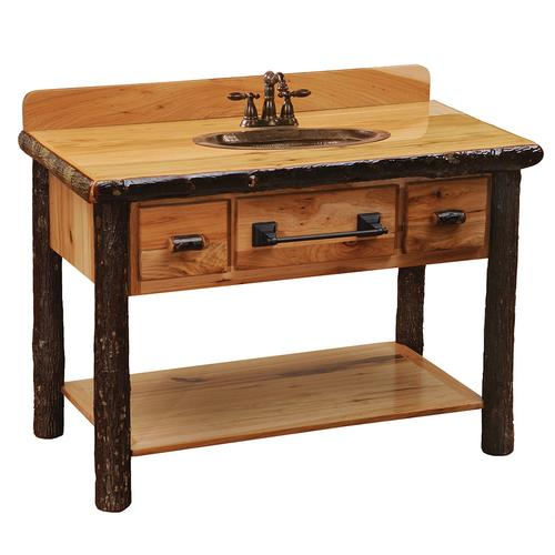 Two Drawer Vanity Base - Cognac