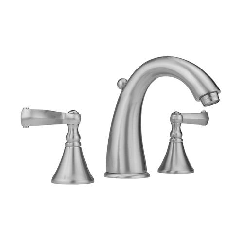 Caramel Bronze - Cranford Faucet with Ribbon Lever Handles & Fully Polished & Plated Pop-Up Drain
