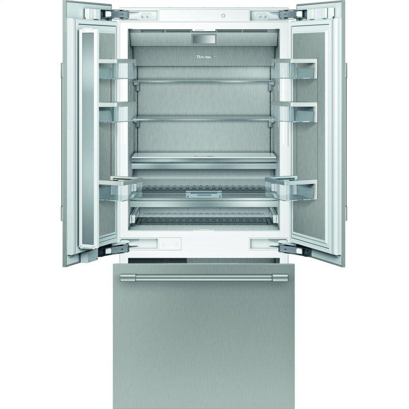 Built-in French Door Bottom Freezer 36'' Professional soft close flat hinge T36BT925NS