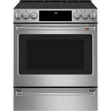 "Café 30"" Slide-In Front Control Radiant and Convection Range Stainless Steel"