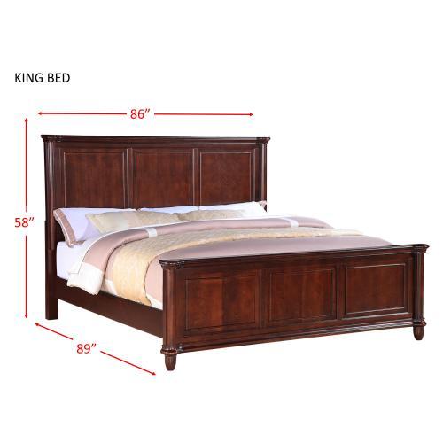 Elements - Hamilton King Panel Bed