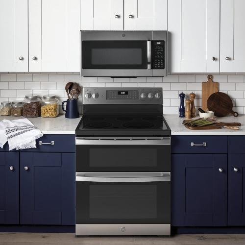 "GE® 30"" Free-Standing Electric Double Oven Convection Range Stainless Steel - JBS86SPSS"