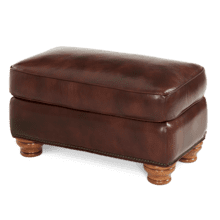 See Details - All Leather Chair Ottoman - Opt1