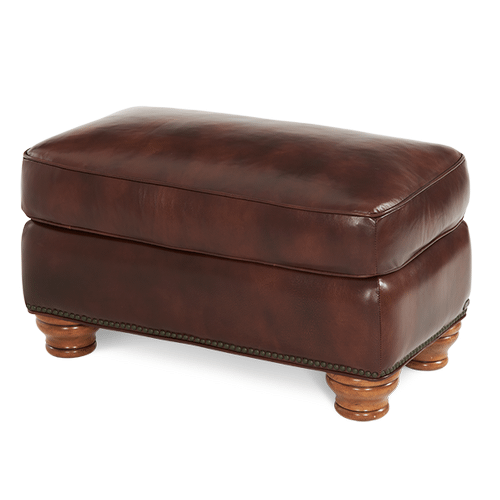 All Leather Chair Ottoman - Opt1