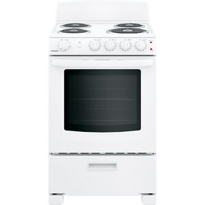 """HotpointHotpoint(R) 24"""" Free-Standing Front-Control Electric Range"""