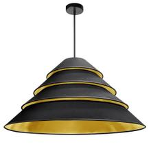 4lt Aranza Pendant Black/gold Shade, Black